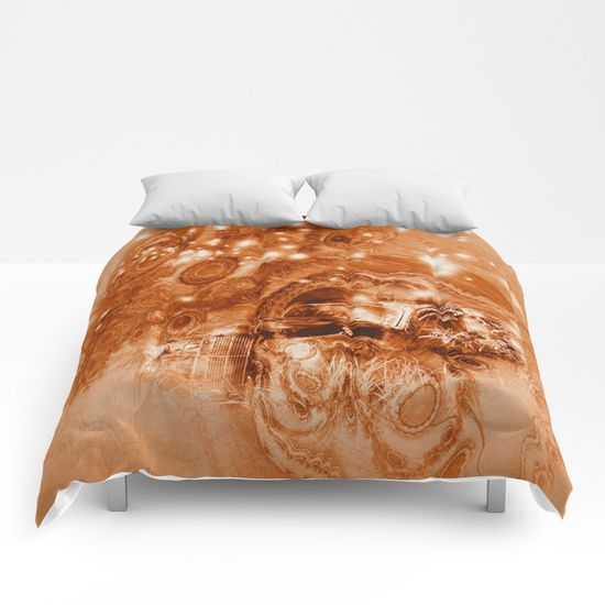 Rusty Ghost Wreck By Wendy Townrow Rusty Car Wreck Old Brown Fractal Ghost Star Space Sci Fi Digital Art Art Photo Comforters Duvet Duvet Covers