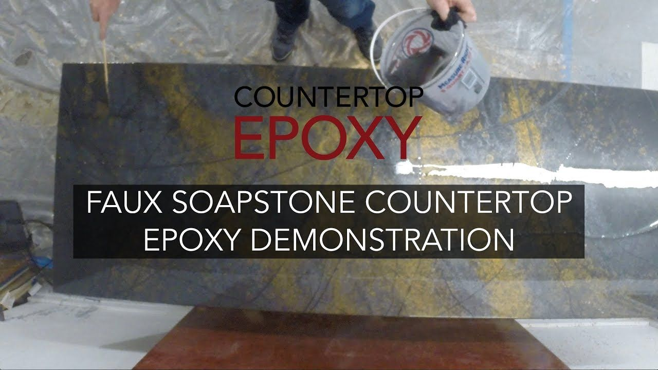 Complete Faux Soapstone Countertop Epoxy Demonstration Youtube