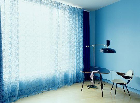 A Modern Version of Pastels - cortinas azules