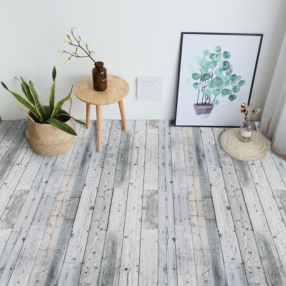 Gray Wood Grain Self Adhesive Wallpaper Home Decor Floor Decoration Decoration Ideas Party Deco Self Adhesive Floor Tiles Adhesive Floor Tiles Floor Stickers