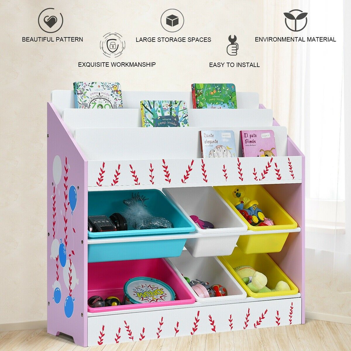 Kids Toy Storage Organizer Children Storage Bins Book Sleeves Toy Storage Organization Kids Storage Kid Toy Storage