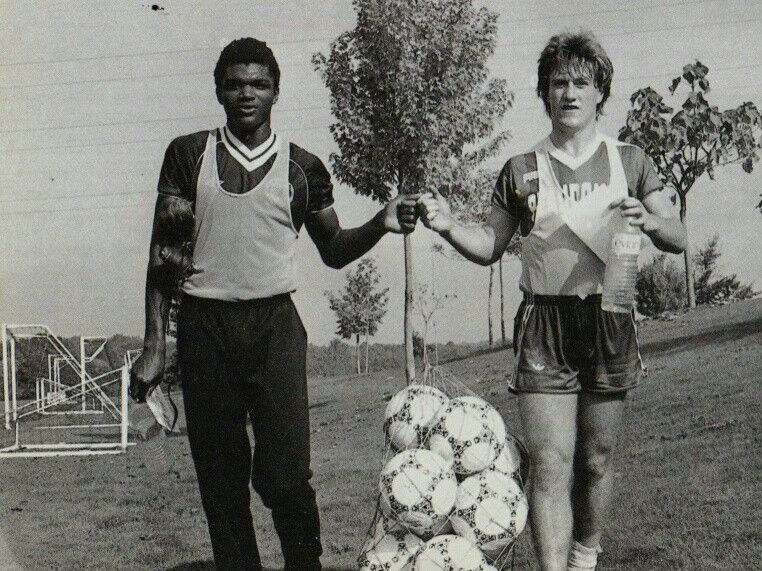 marcel desailly didier deschamps fc nantes in 1987. Black Bedroom Furniture Sets. Home Design Ideas