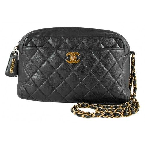 Chanel Black Quilted Caviar Camera Bag | Pursed | Pinterest ... : chanel quilt - Adamdwight.com