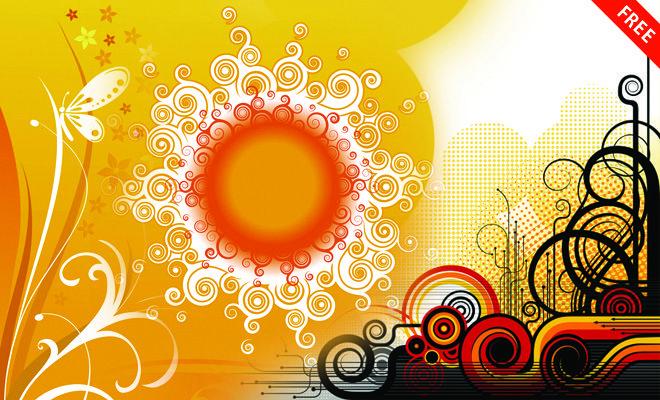 25 Free Vector Designs Download Eps Ai Files Floral Designs Backgrounds Graphic Design Programs Vector Free Design