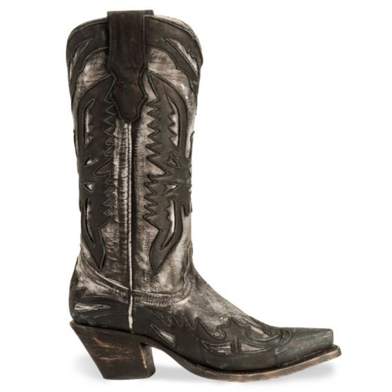 Corral Distressed Eagle Wingtip Cowboy Boot - Snip Toe - Sheplers
