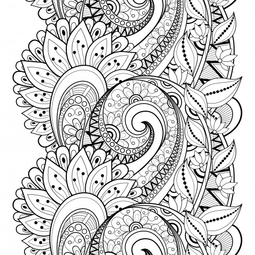 Flower Doodle Coloring Page Flower doodles Doodles and Adult