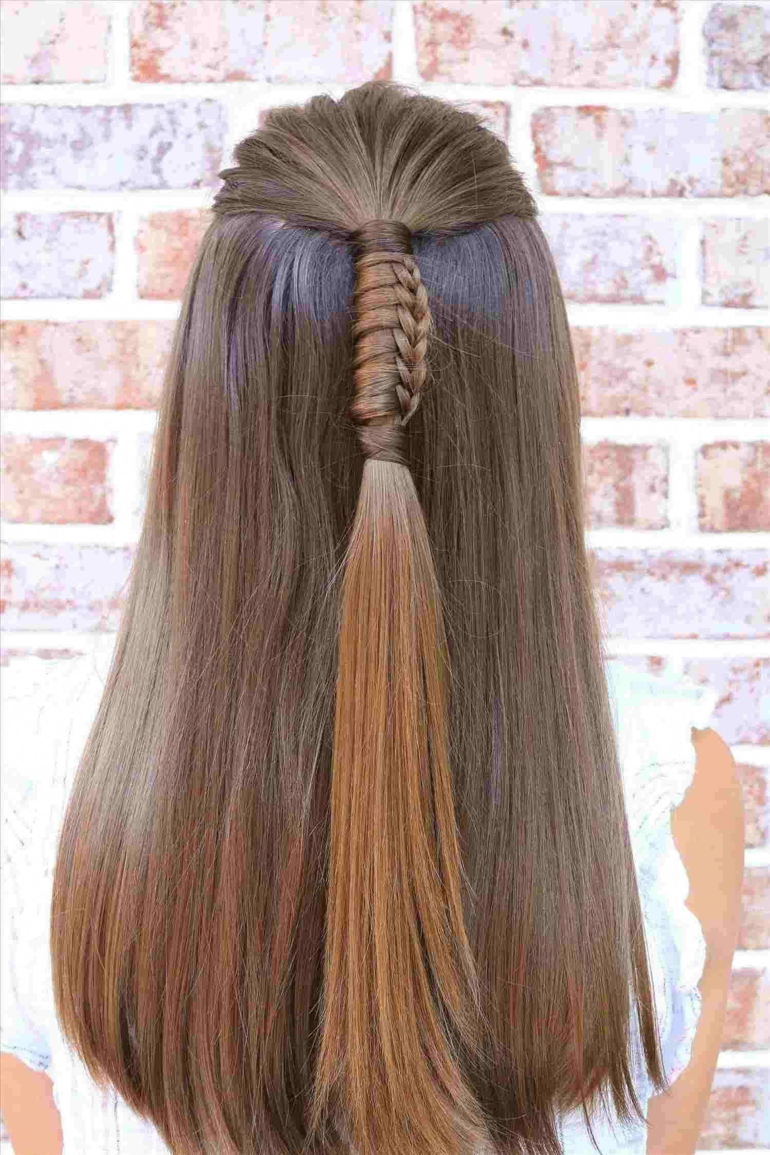 Easy Hairstyle Step By Step For School