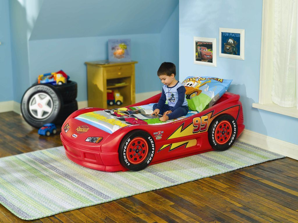 Cama cars disney cars rayo mcqueen cama roadster con colch n marca little - Colchones pequenos ...