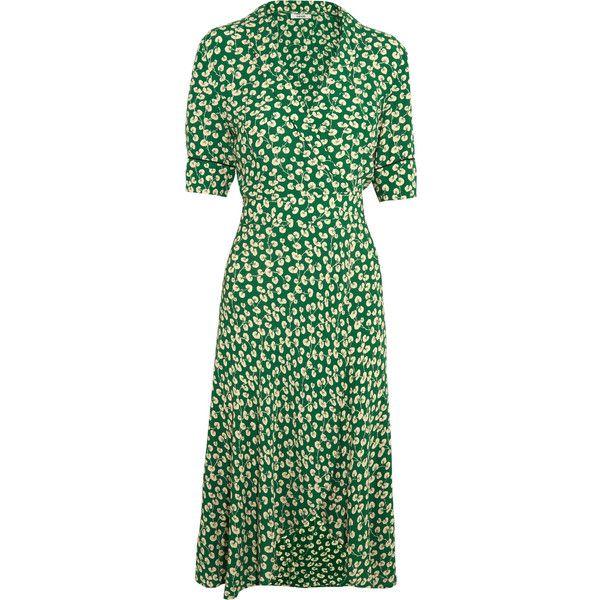 polka dot wrap dress - Green Ganni From China Free Shipping Low Price Rbd1Jqewl