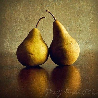 Still Life Fine Art Photograph, Two Golden Yellow Pears ...