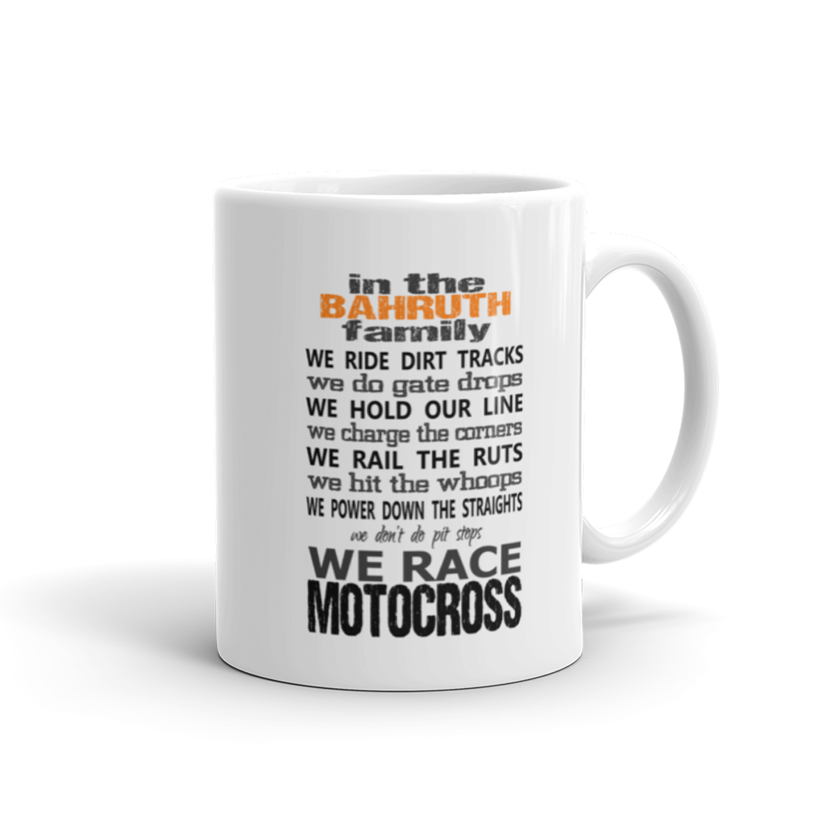 Personalized Motocross Family Mug