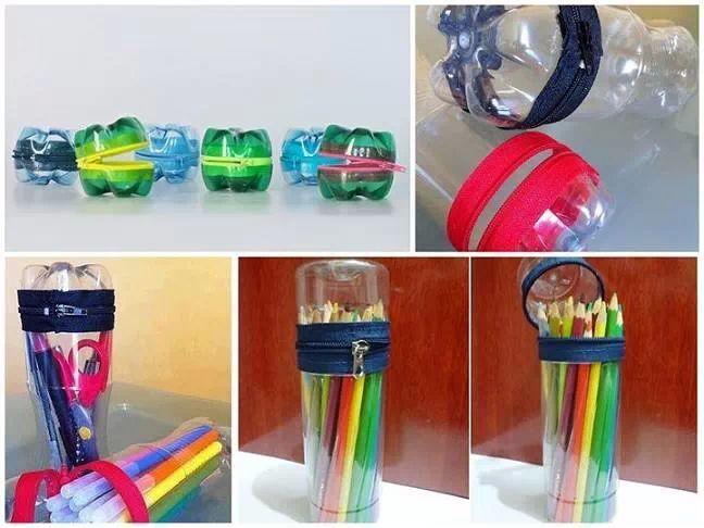 cartucheras y monederos reciclados con botellas!!!