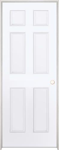 Mastercraft 28 X 80 Primed Woodgrain 6 Panel Int Door Lh At