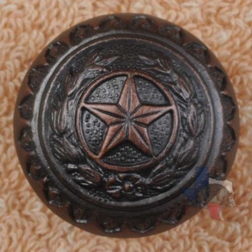 Attractive Western Decor Knob Texas Star Hardware Cabinet Knobs Drawer Pulls CP214ORB  #WESTERN