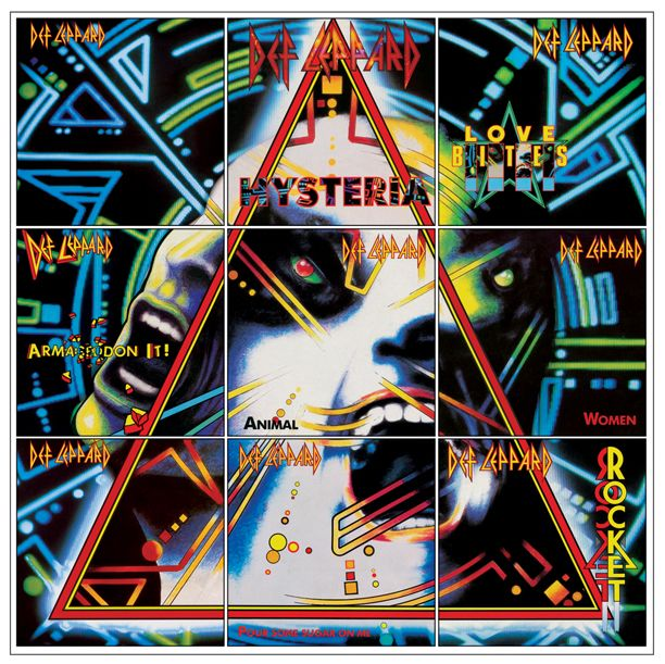 Def Leppard S Phil Collen Offers Track By Track Review Of Hysteria Def Leppard Poster Def Leppard Def Leppard Albums