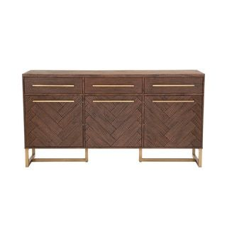 Shop for Laurel Brushed Gold and Rustic Java Medium Dining Sideboard. Get free delivery at Overstock.com - Your Online Furniture Shop! Get 5% in rewards with Club O! - 20618956
