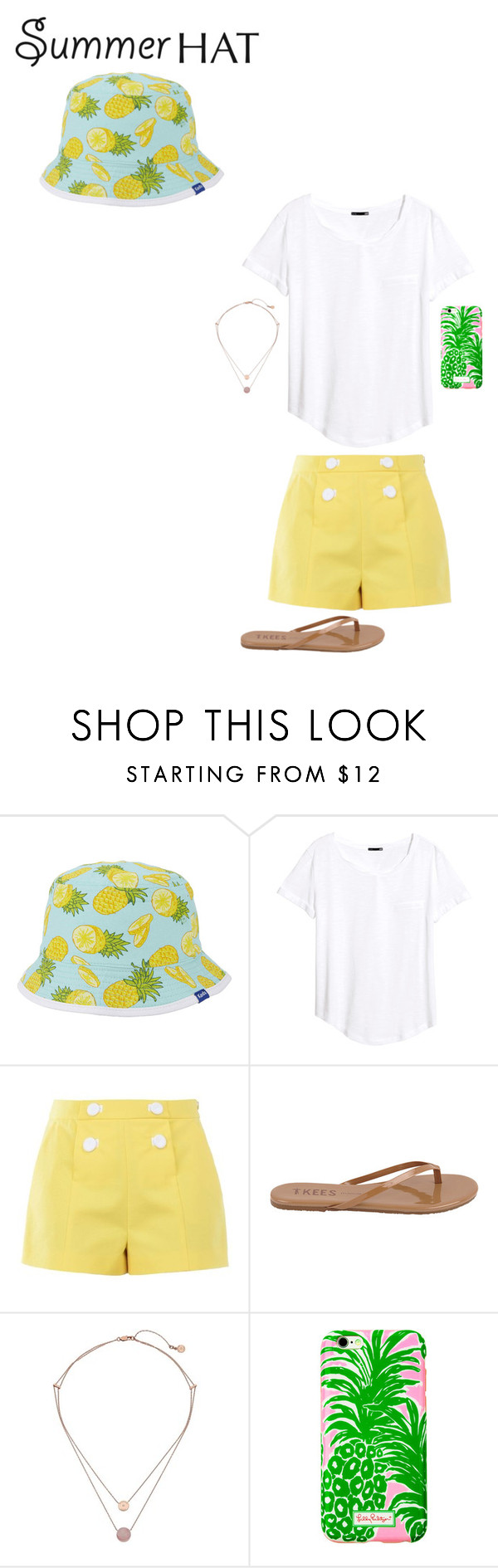 """Summer hat"" by jamierosesmith ❤ liked on Polyvore featuring Keds, H&M, Boutique Moschino, Tkees, Michael Kors, Lilly Pulitzer and summerhat"