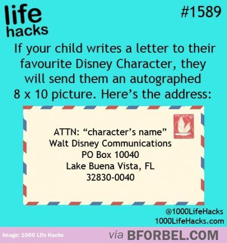 great activity for a kids birthday party letter writing to the favorite disney characters parents then add a return address to the letters for the