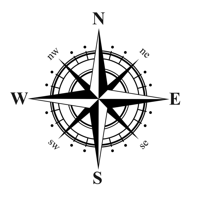 Compass Rose Nautical Vinyl Decal Kompass Rose Tattoo Kompasszeichnung Kompass Tattoo Vorlage