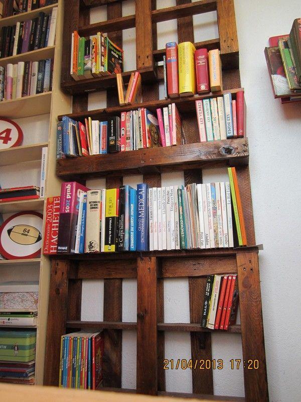 etagere a livres palette etagere