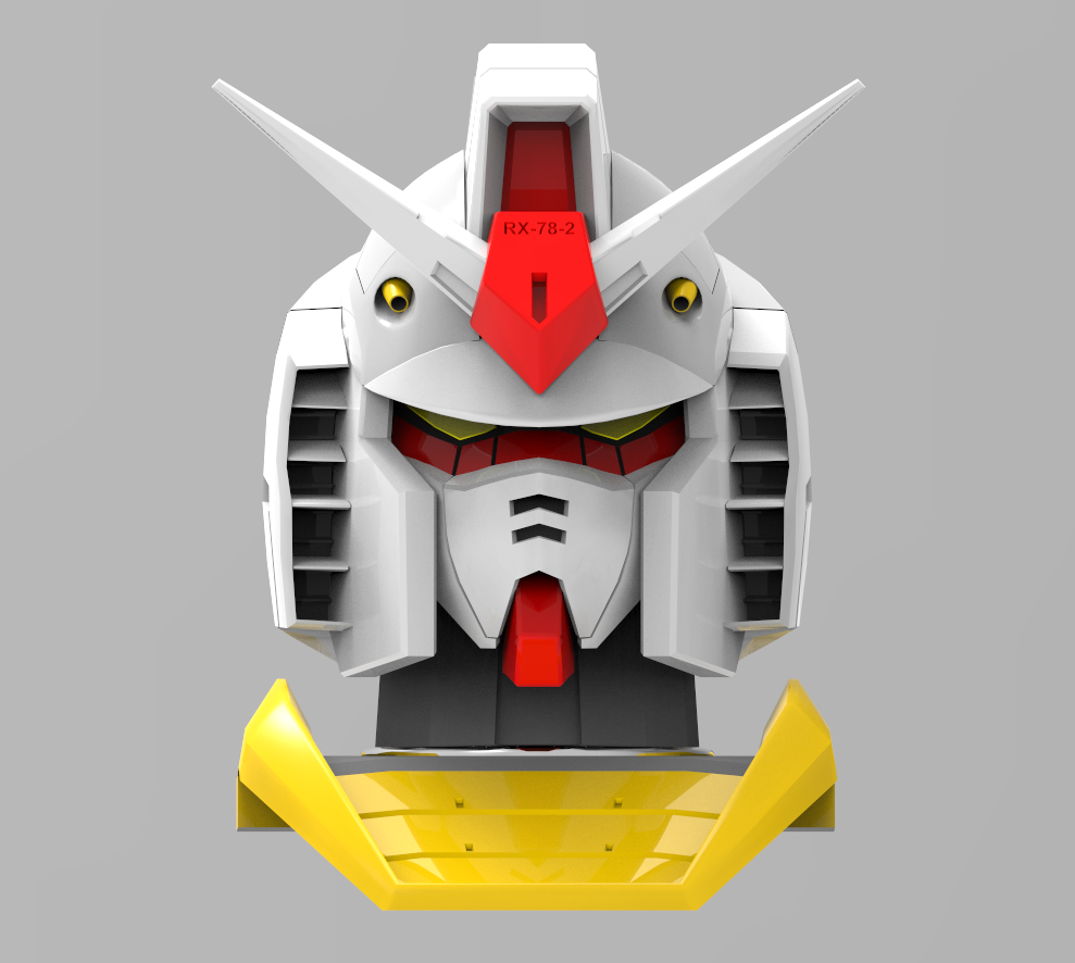 Rx 78 2 gundam head 3ds max modeling gundam for 3ds max face modeling