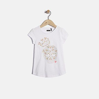 Tee-shirt tête de mort fille IKKS   Mode,