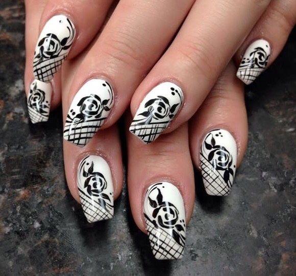 Amazing Black And White By Pinky Via Nailartgallery Nailartgallery