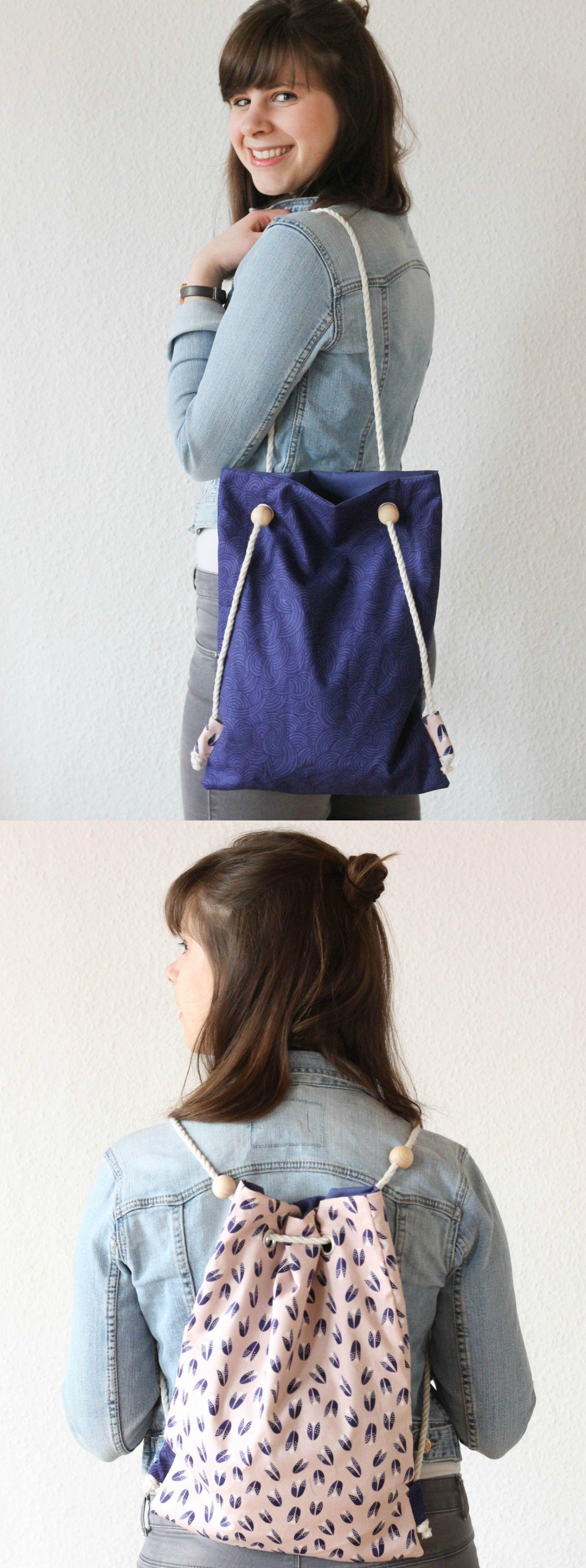 diy tutorial rucksack oder tasche beides gym bags. Black Bedroom Furniture Sets. Home Design Ideas