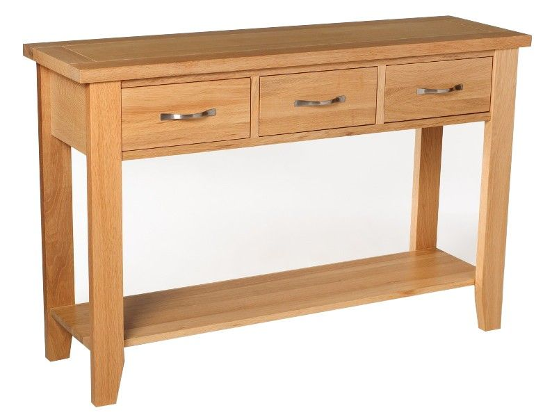Foyer Table Oak : Camberley oak small console table with drawers furniture