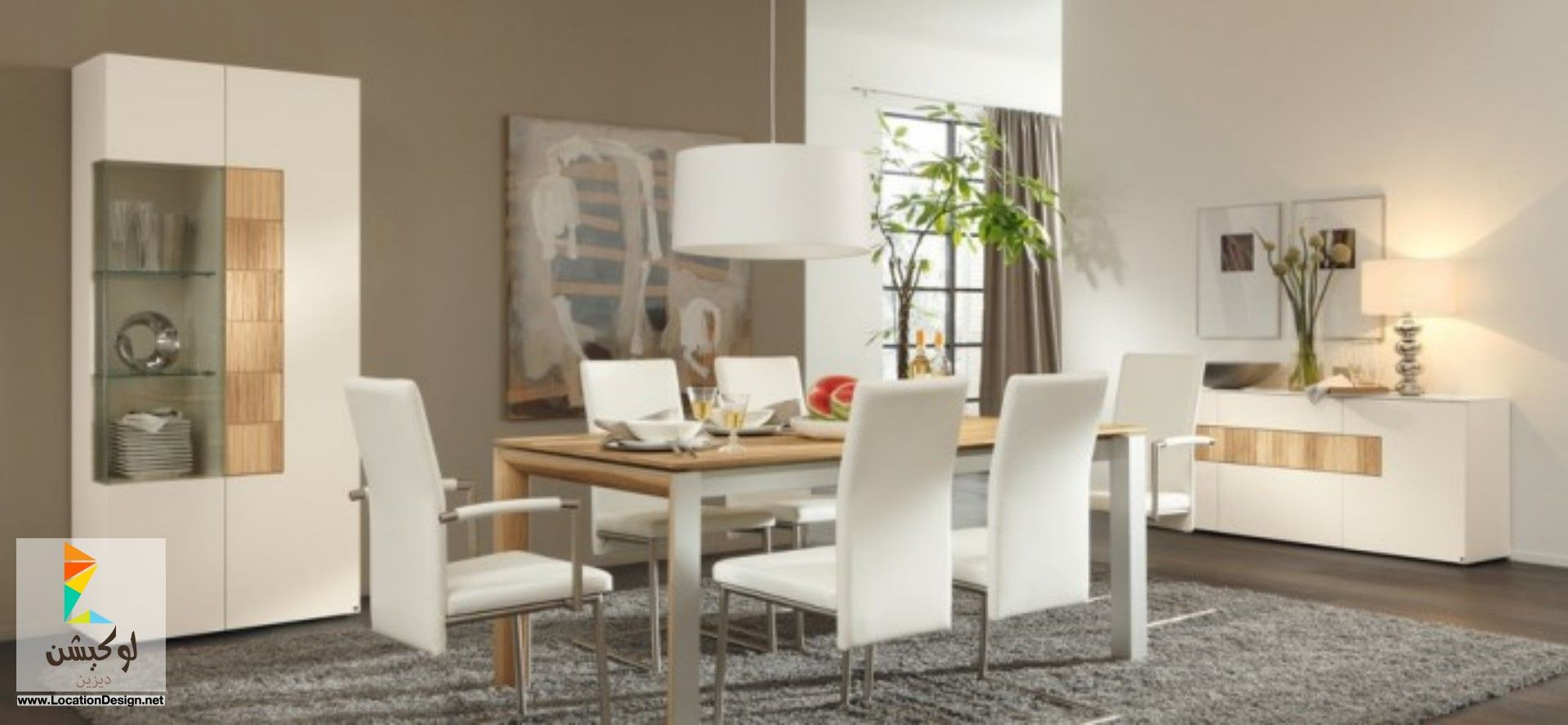 غرف سفره مودرن كامله Dining Room Furniture Modern Contemporary Dining Room Decor Stylish Dining Room