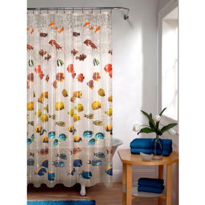 Bathroom Shower Curtain Antique Fishing Lure Design Fishing