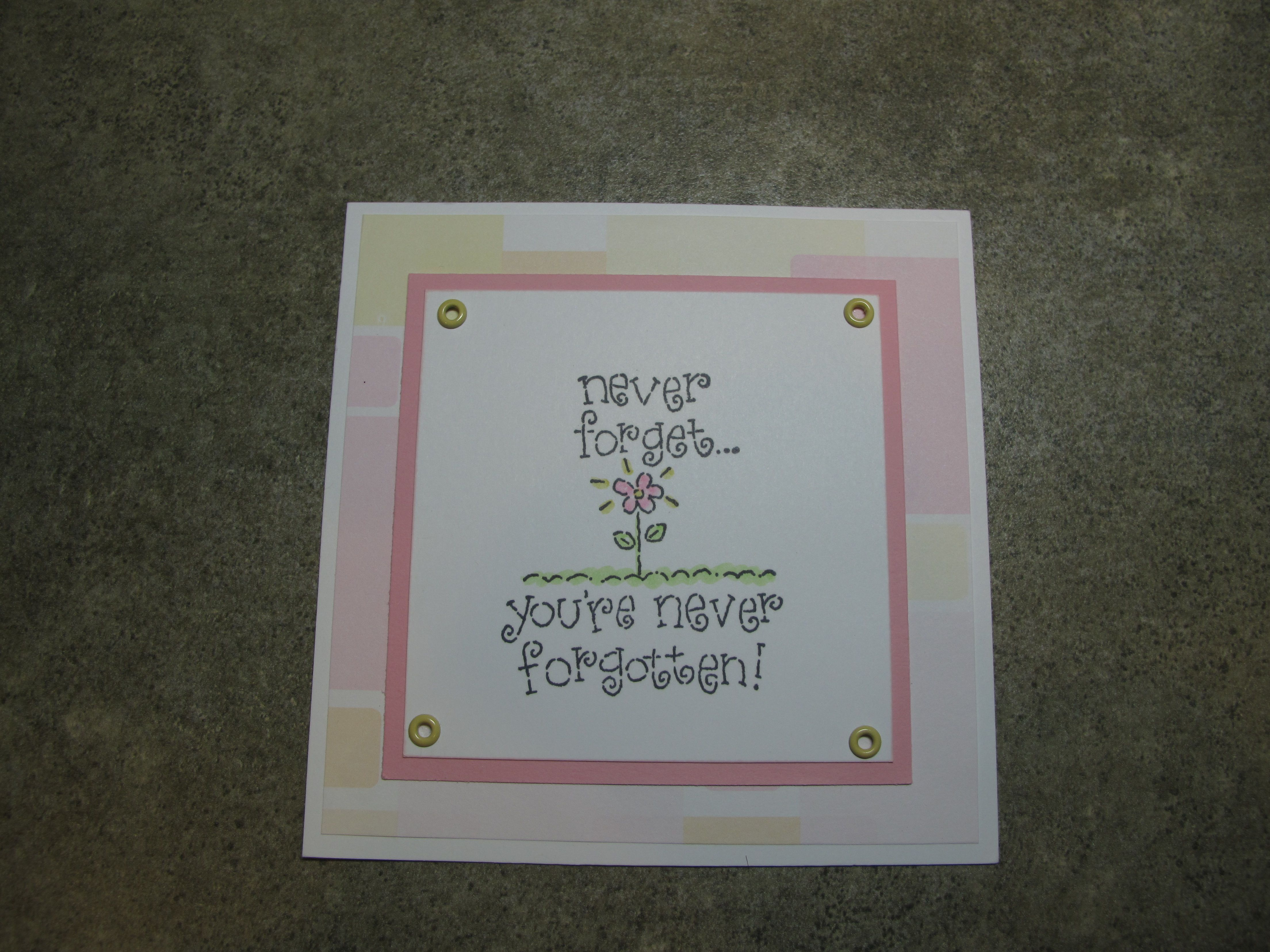 cute square with pink/yellow vellum