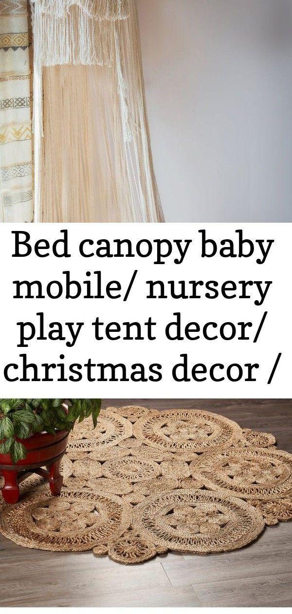 Photo of Bed canopy baby mobile/ nursery play tent decor/ christmas decor / bohemian play house/ kids …