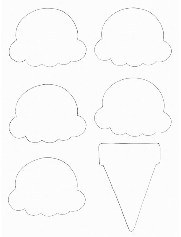 Paper Ice Cream Cone Project  Ice Cream Scoop Template And