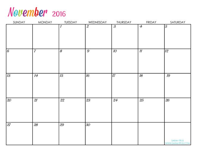 custom editable free printable 2016 calendars sarah titus for