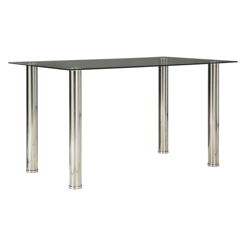 sariden rectangular dining room table clear chrome signature rh pinterest com