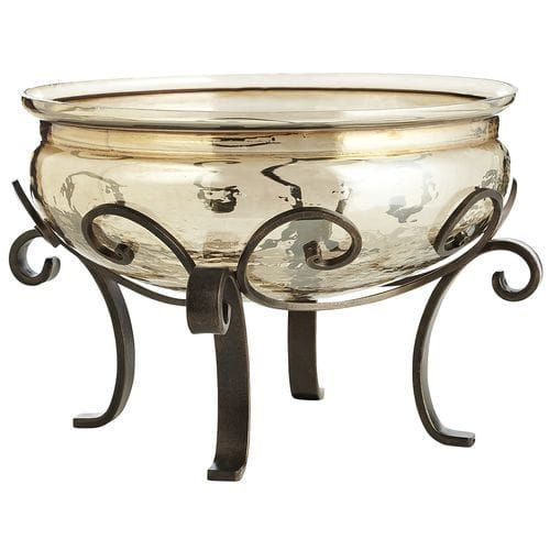 Luster Decorative Bowl With Stand