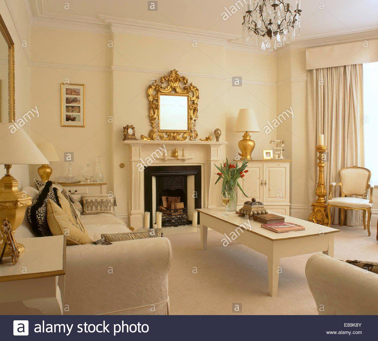 Cream And Gold Living Room Idea Unique Cream Living Room