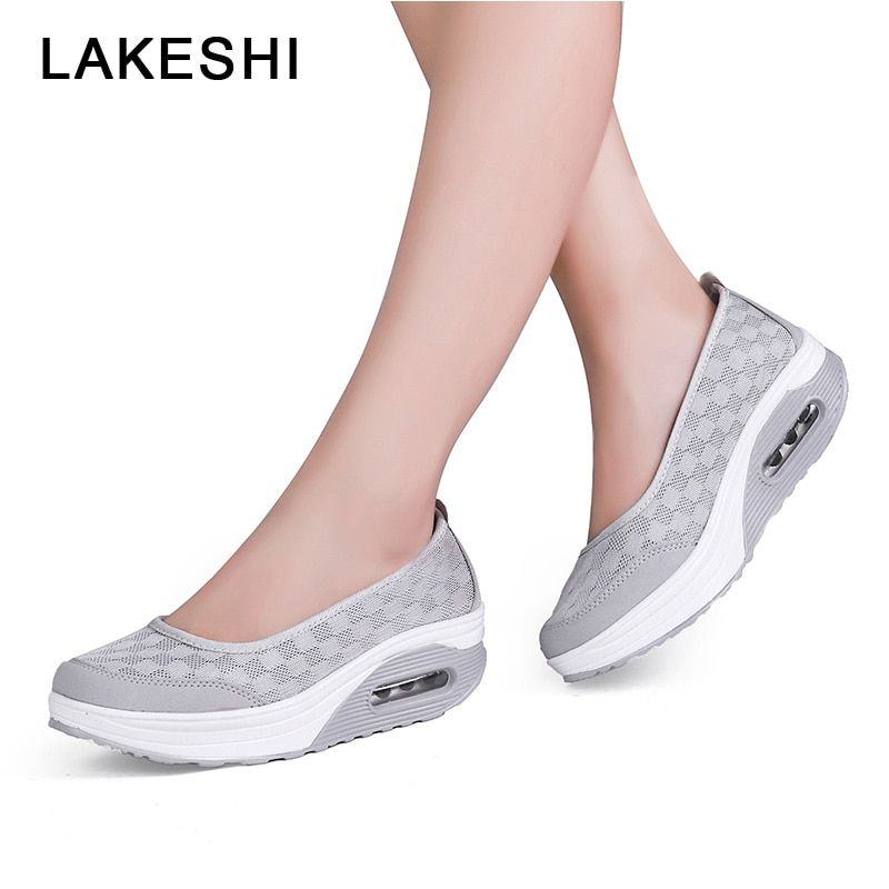 c9b0dfc7ce4bf 2019 Summer Women Sandals Breathable Mesh Women Summer Shoes Fashion  Platform Shake Shoes Ladies Sandals Wedges Shoes For Women