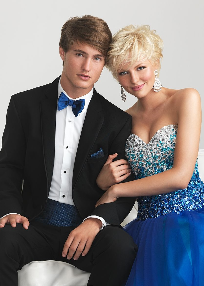 Night Moves 6600 Blue Strapless Sweetheart Ball Gown Prom Dresses