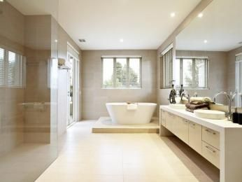 Pictures In Gallery Photo of a modern bathroom design with freestanding bath using frameless glass from the bathroom galleries Bathroom photo Browse hundreds of images of