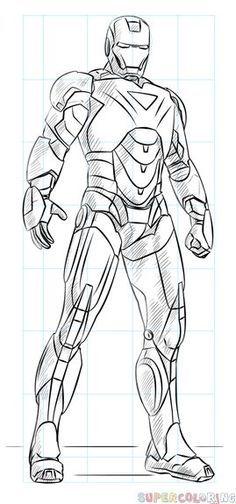 étourdissant  Mot-Clé How to draw Iron Man   Step by step Drawing tutorials