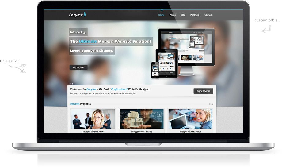 Enzyme Responsive HTML Theme | HTML Templates (Free) | Pinterest