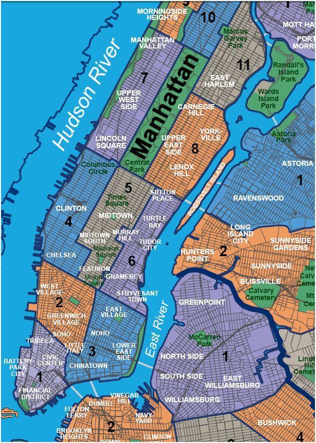 map neighborhoods of manhattan Google Search NYC Pinterest