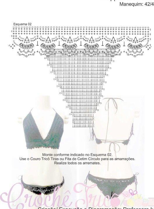 Bikini | crochet | crochet by Yris Garcia | Pinterest | Baño, Traje ...