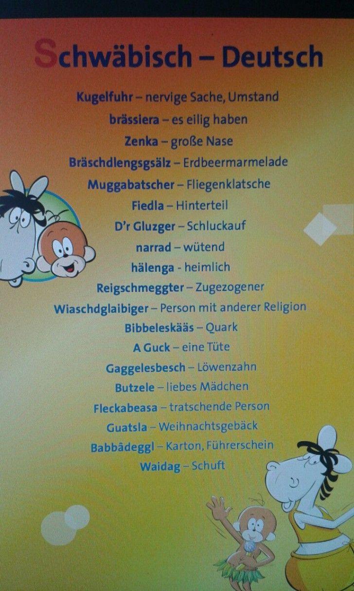 Schwabisch Deutsch Schwabische Spruche Witzige Spruche Urkomische Zitate