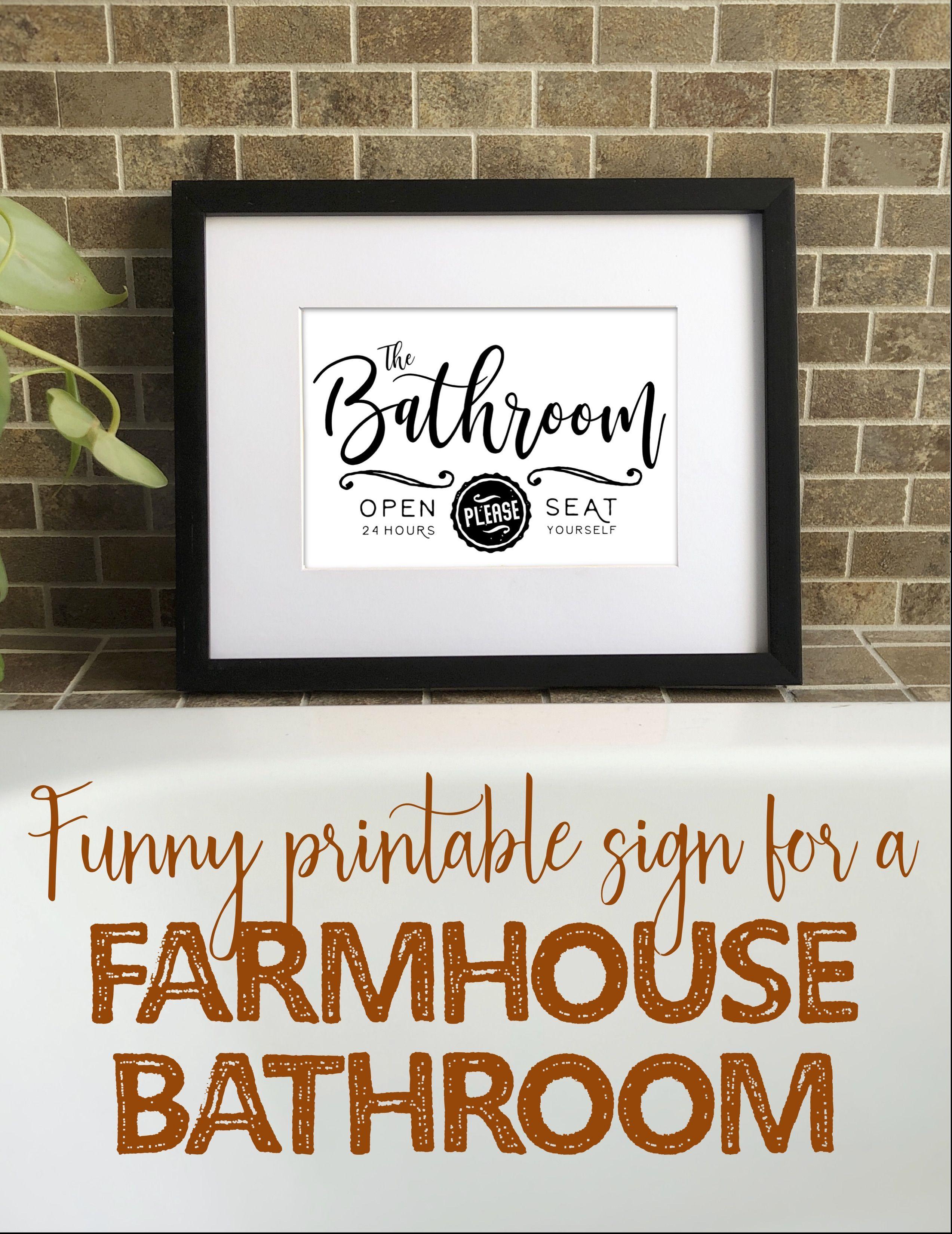 Farmhouse Bathroom Sign Printable Funny Bathroom Printable Etsy Bathroom Printables Bathroom Art Printables Farmhouse Bathroom