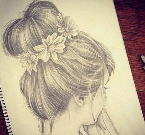 Casual Hair Style Fashion And Beauty Art Drawings How To Draw Hair Drawings
