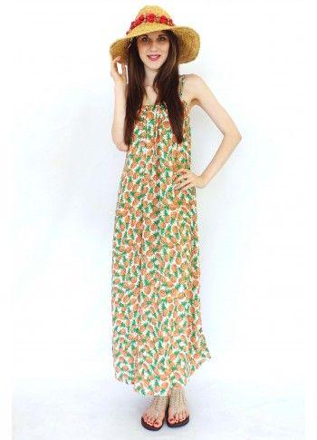 Maxi Dress Lulu Jen in Pineapple Print