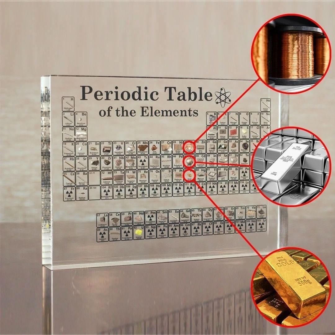 Periodic Table With Real Elements Video Periodic Table Amazing Science Experiments Life Hacks For School